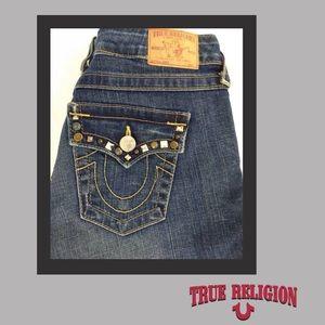 NWOT - True Religion Studded Joey Jeans
